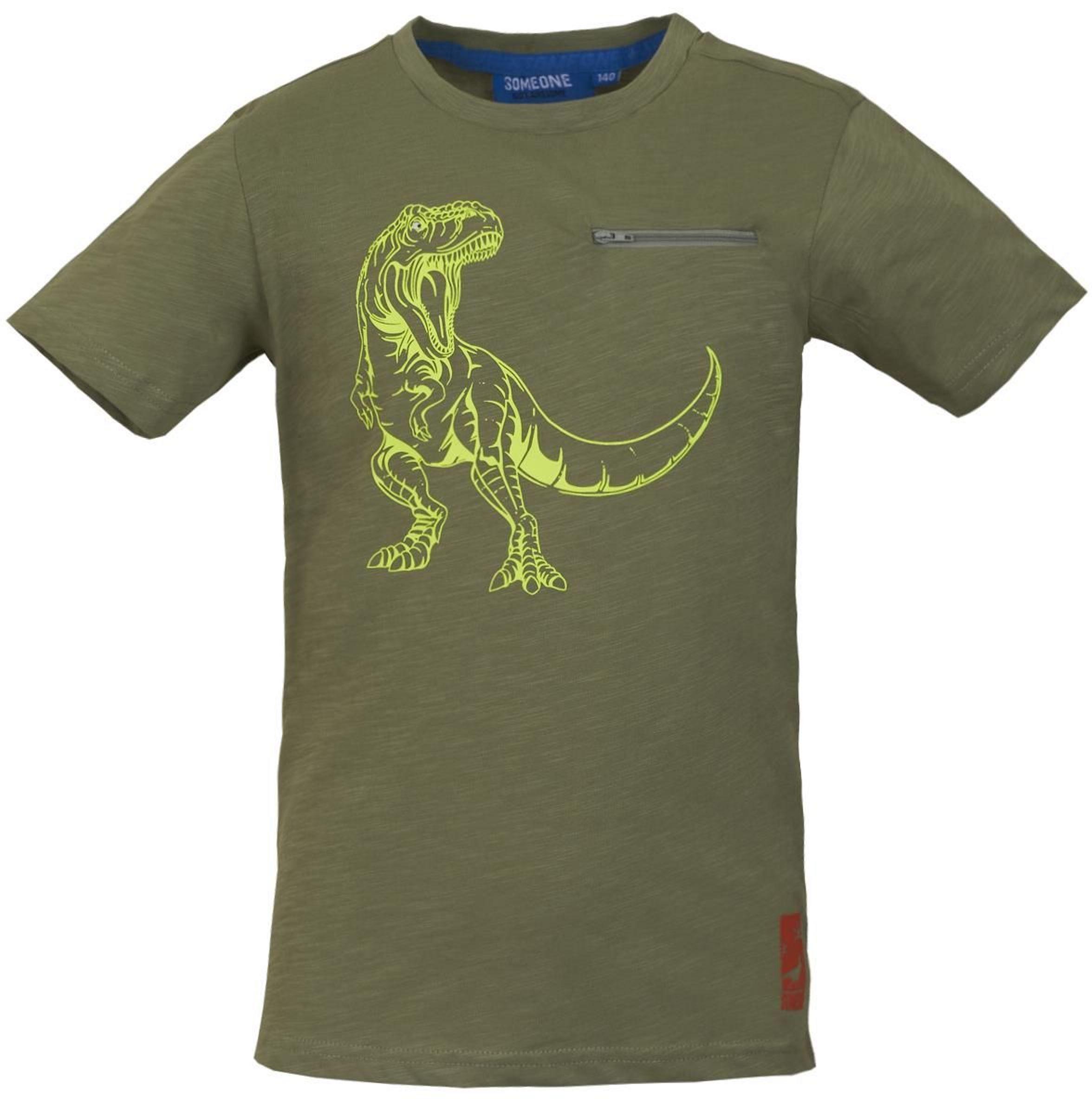 Someone Boy T-Shirt T-Rex light khaki
