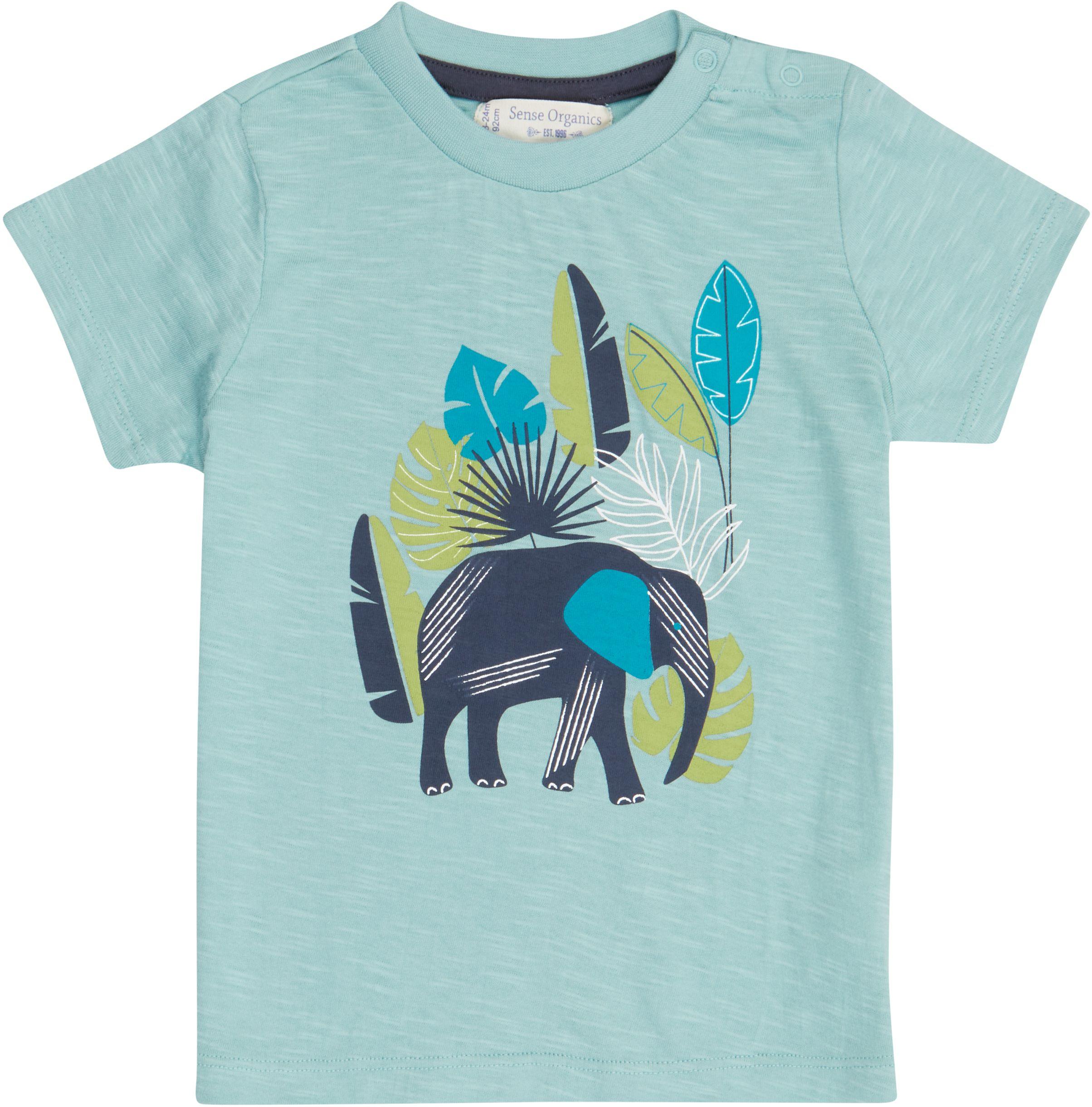 Sense Organic IBON Baby Shirt Kurzarm Light Teal