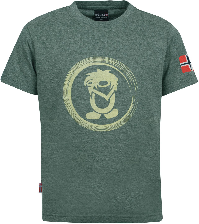 Trollkids Trollfjord T-Shirt khaki green