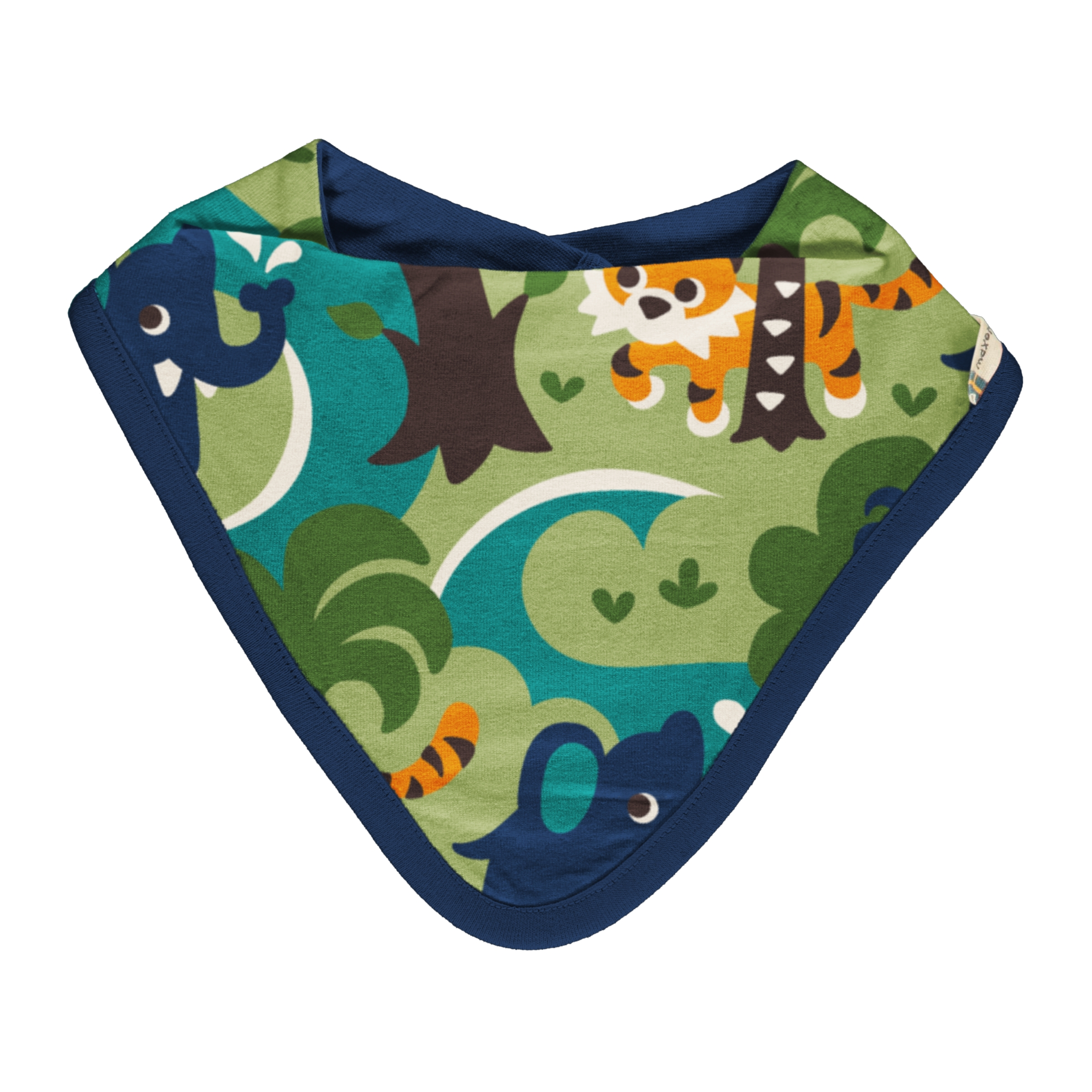 Maxomorra Baby Bib Dreiecktuch JUNGLE