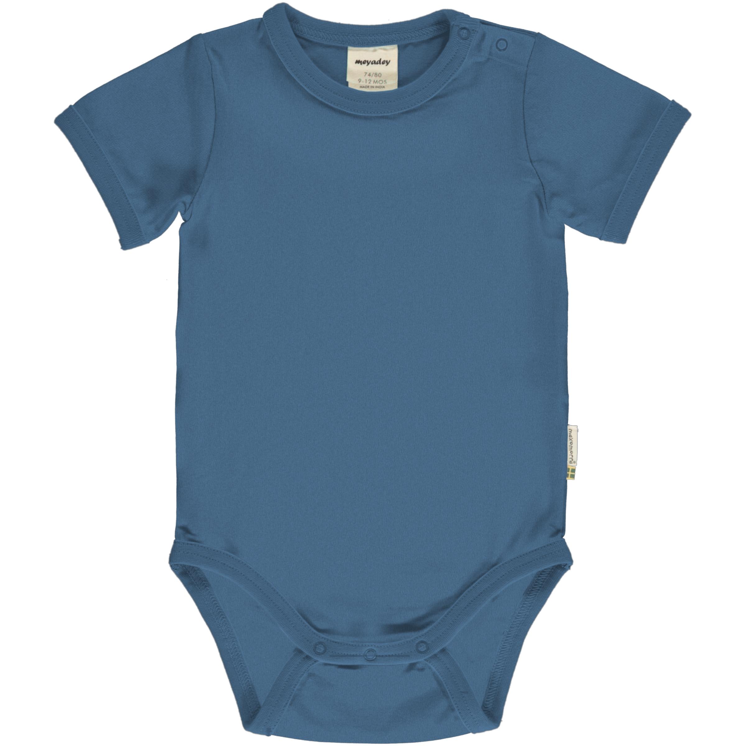 Meyadey by Maxomorra Baby Body kurzarm Solid MOONLIGHT BLUE 062/068