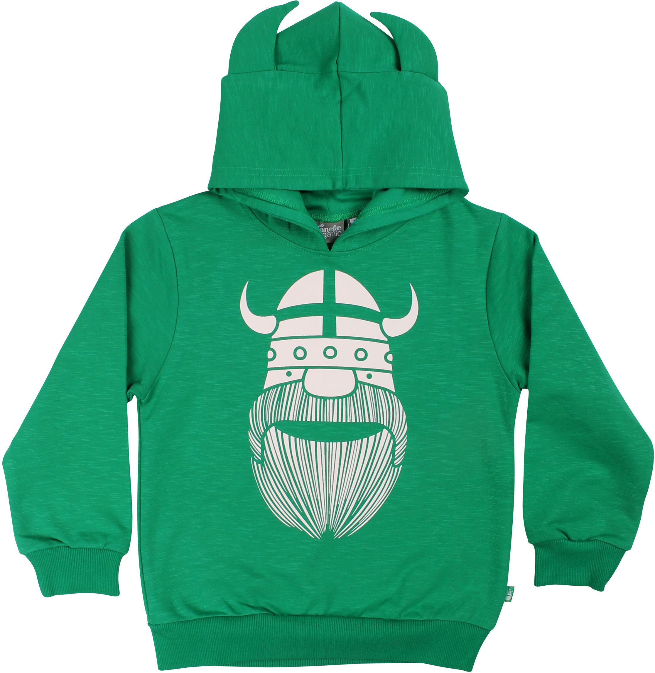 Danefae Boy Hoodie Organic Warrior green