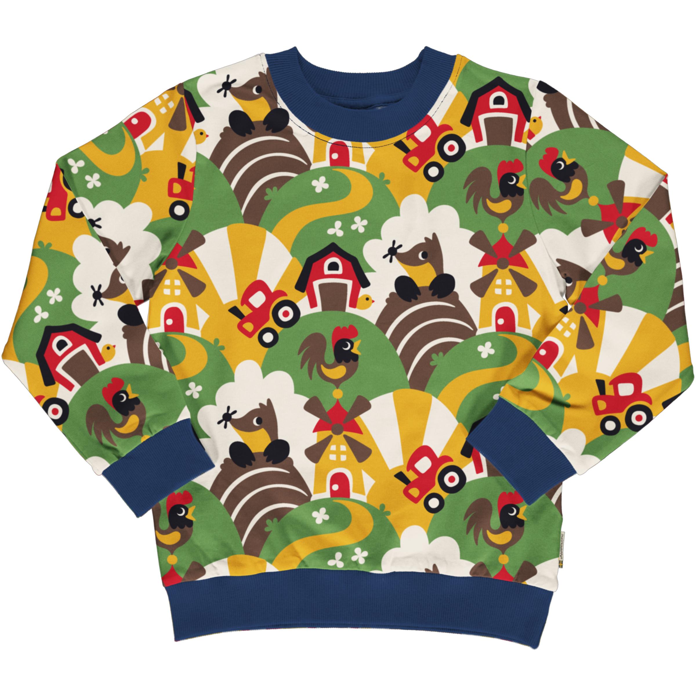 Maxomorra Sweatshirt Button FARM 074/080