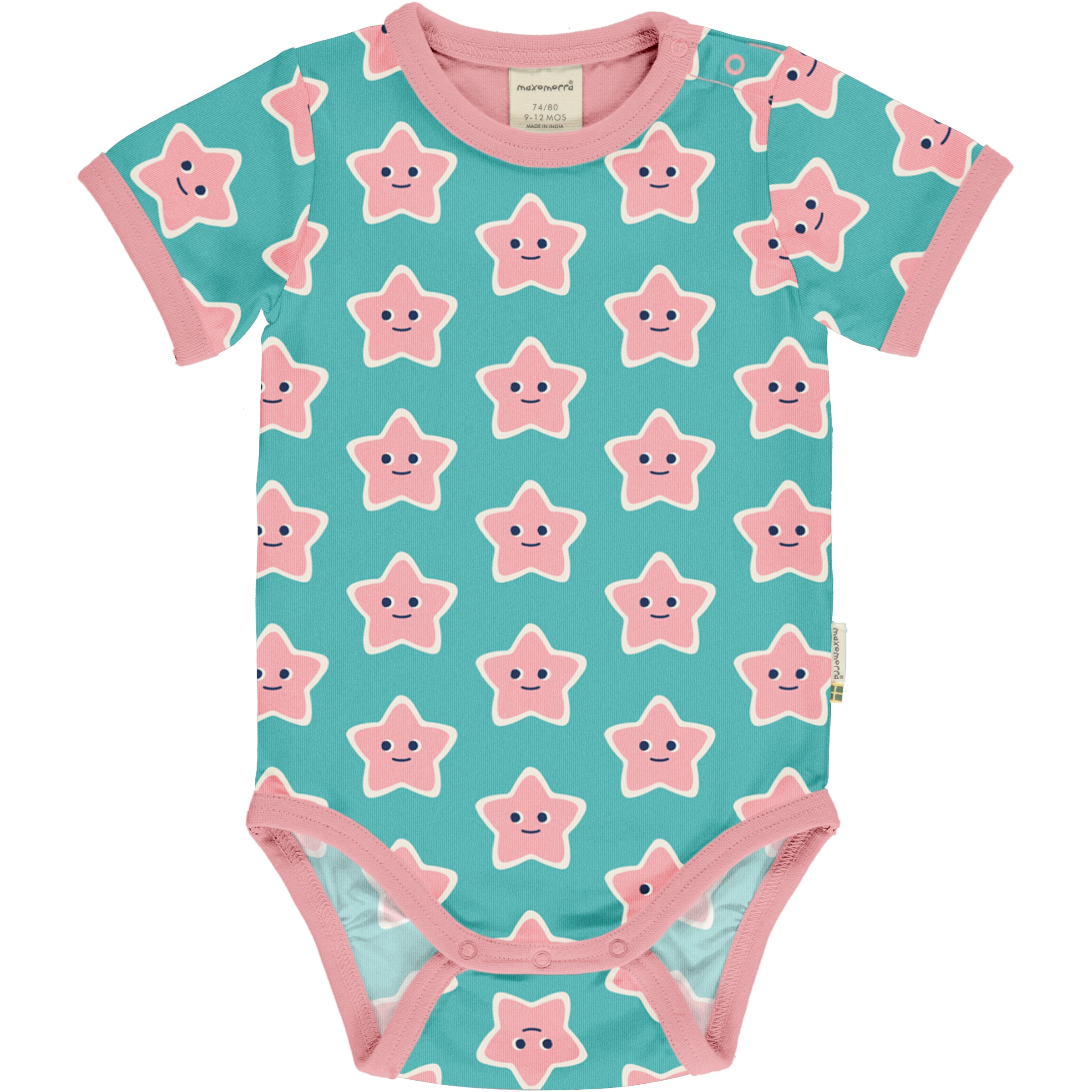 Maxomorra Baby Body kurzarm STARFISH 050/056