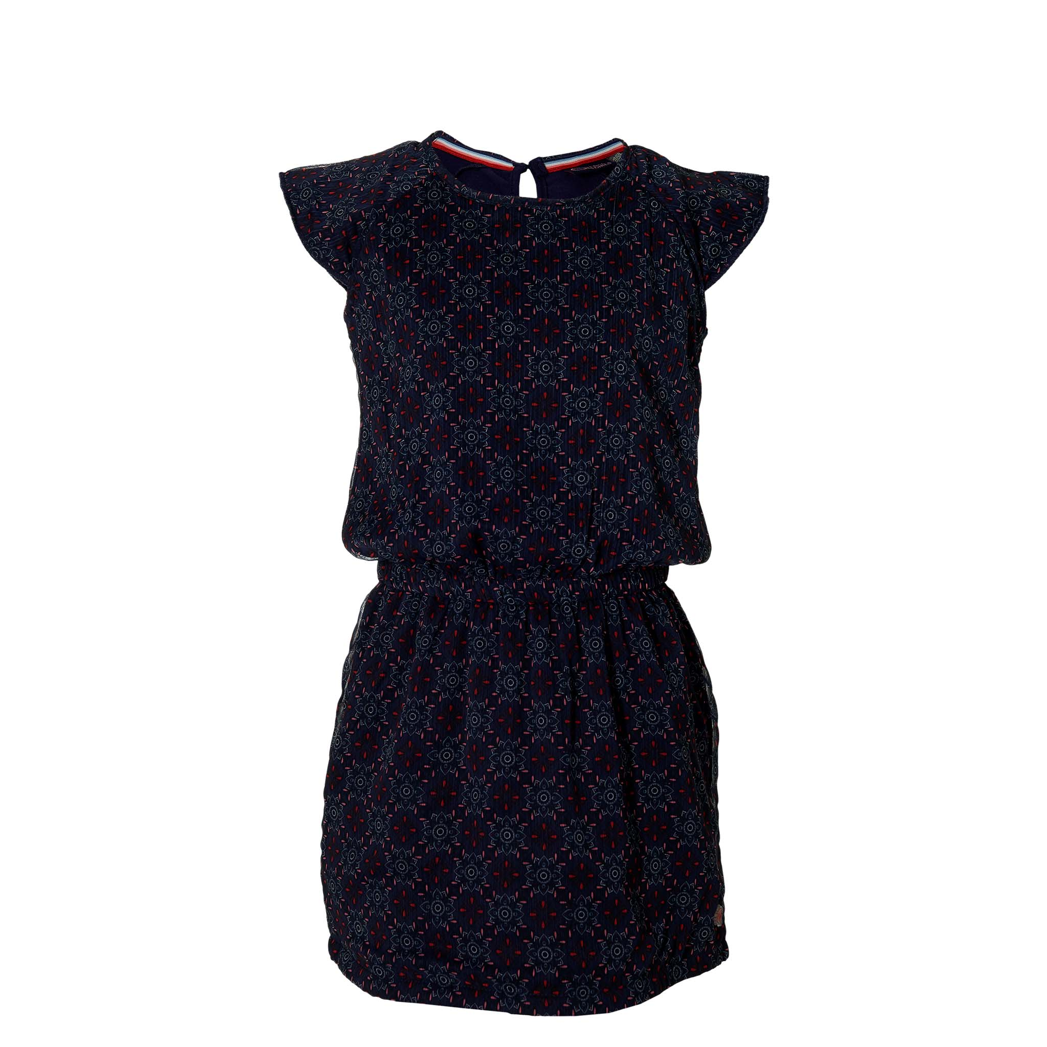 Quapi Girl Kleid navy retro