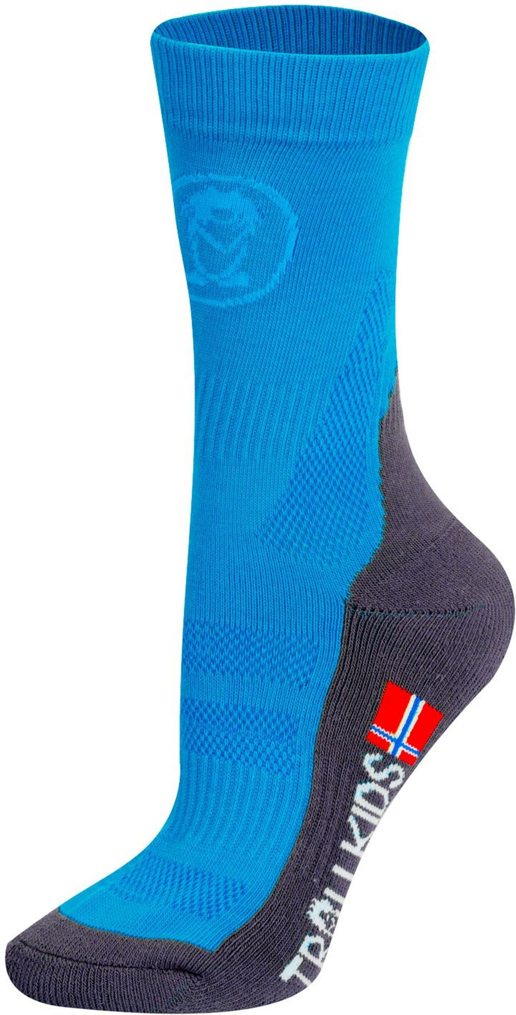 Trollkids Trekking Mid Cut Socken Medium Blue