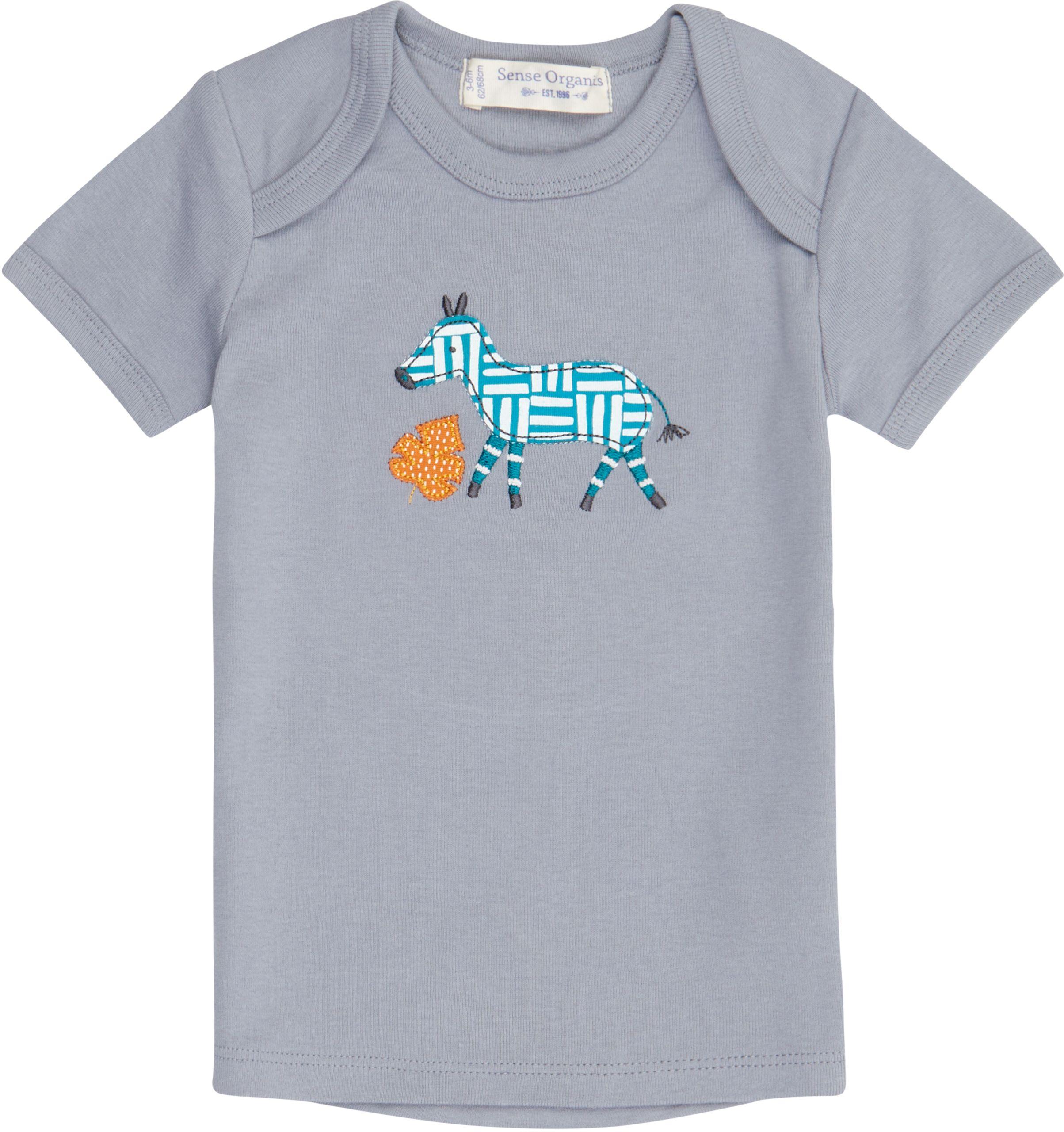 Sense Organic TILLY  RETRO Baby Shirt Kurzarm Dusty Blue