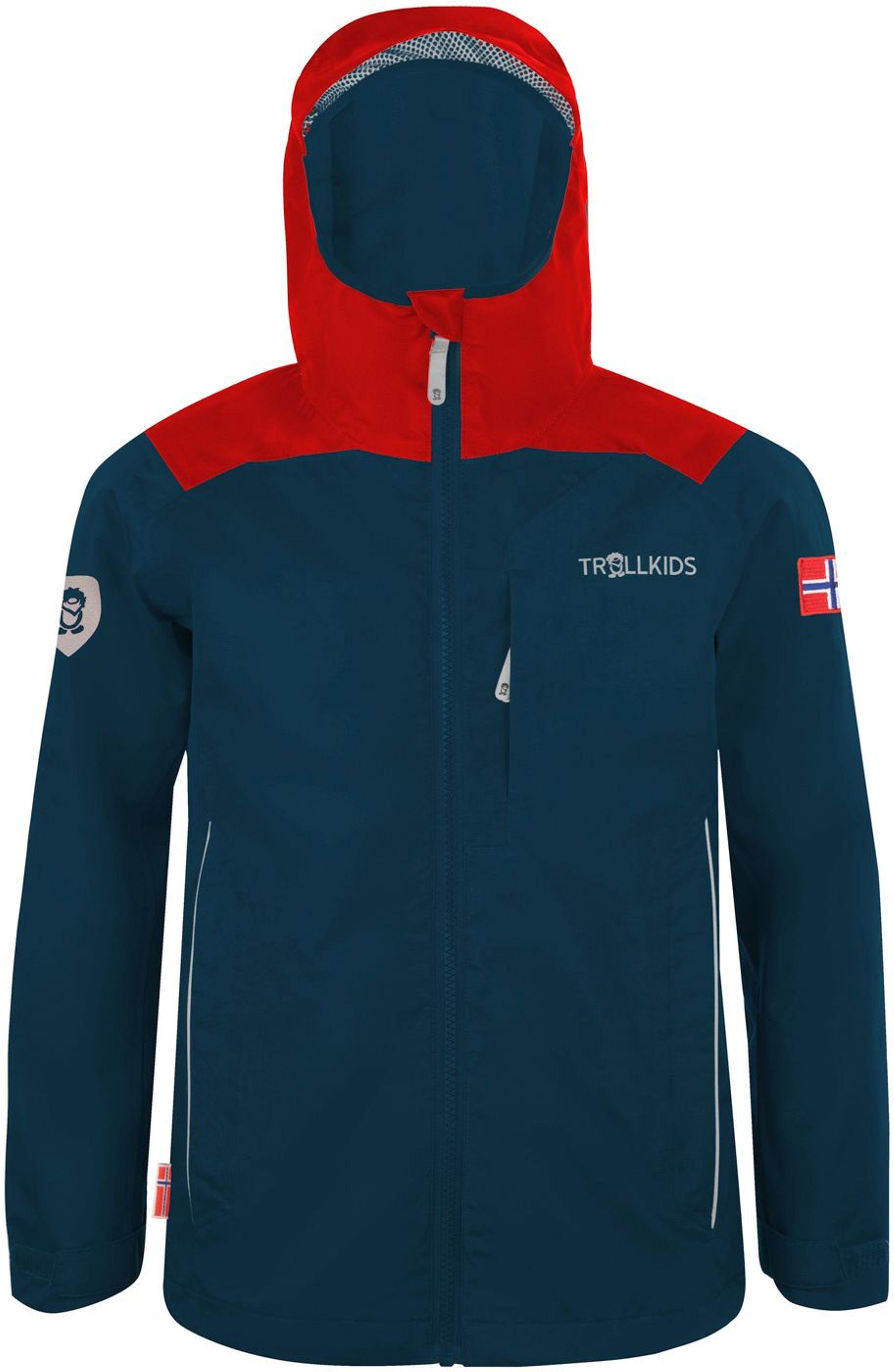 Trollkids Bergen Regenjacke bright red/mystic blue