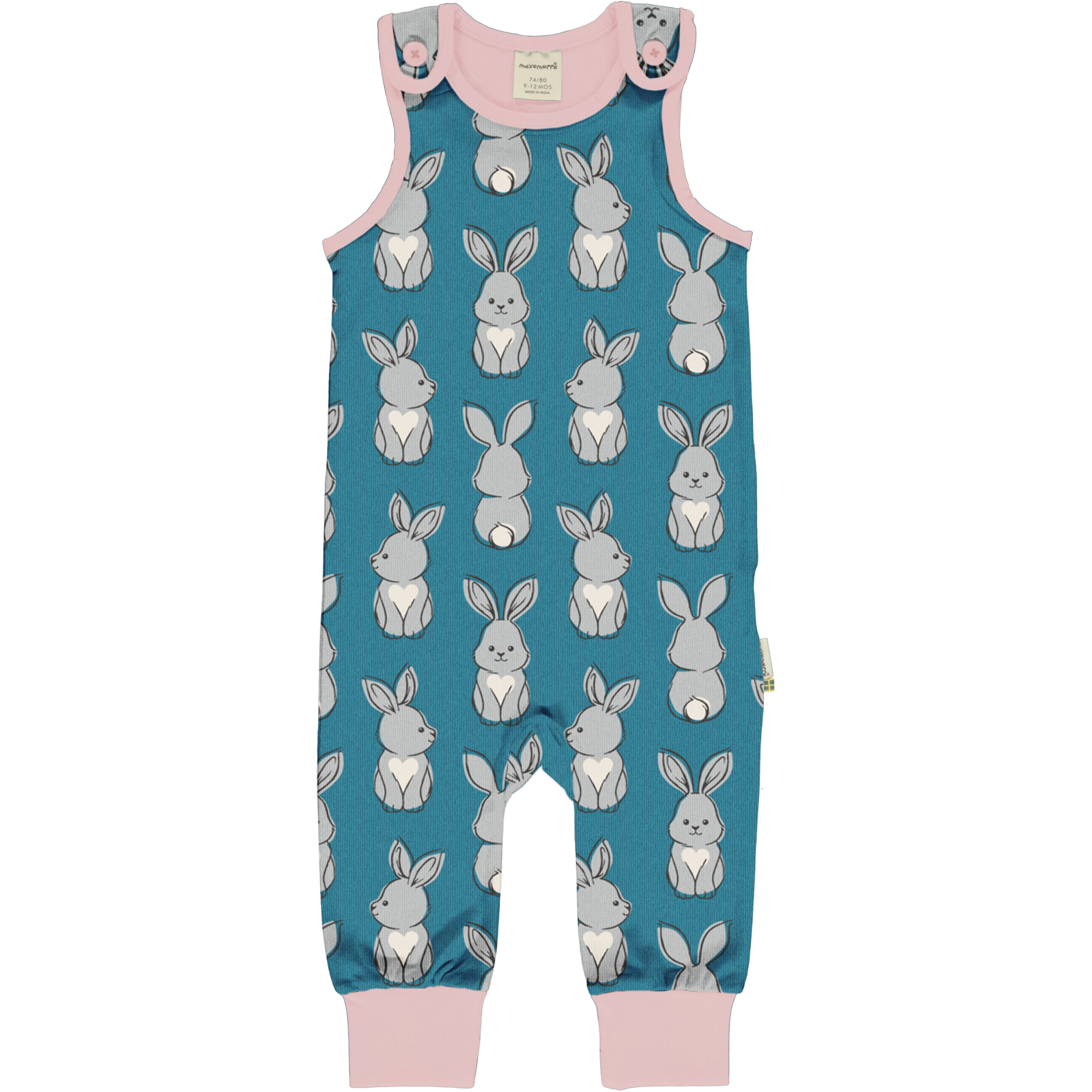 Maxomorra Baby Playsuit RABBIT