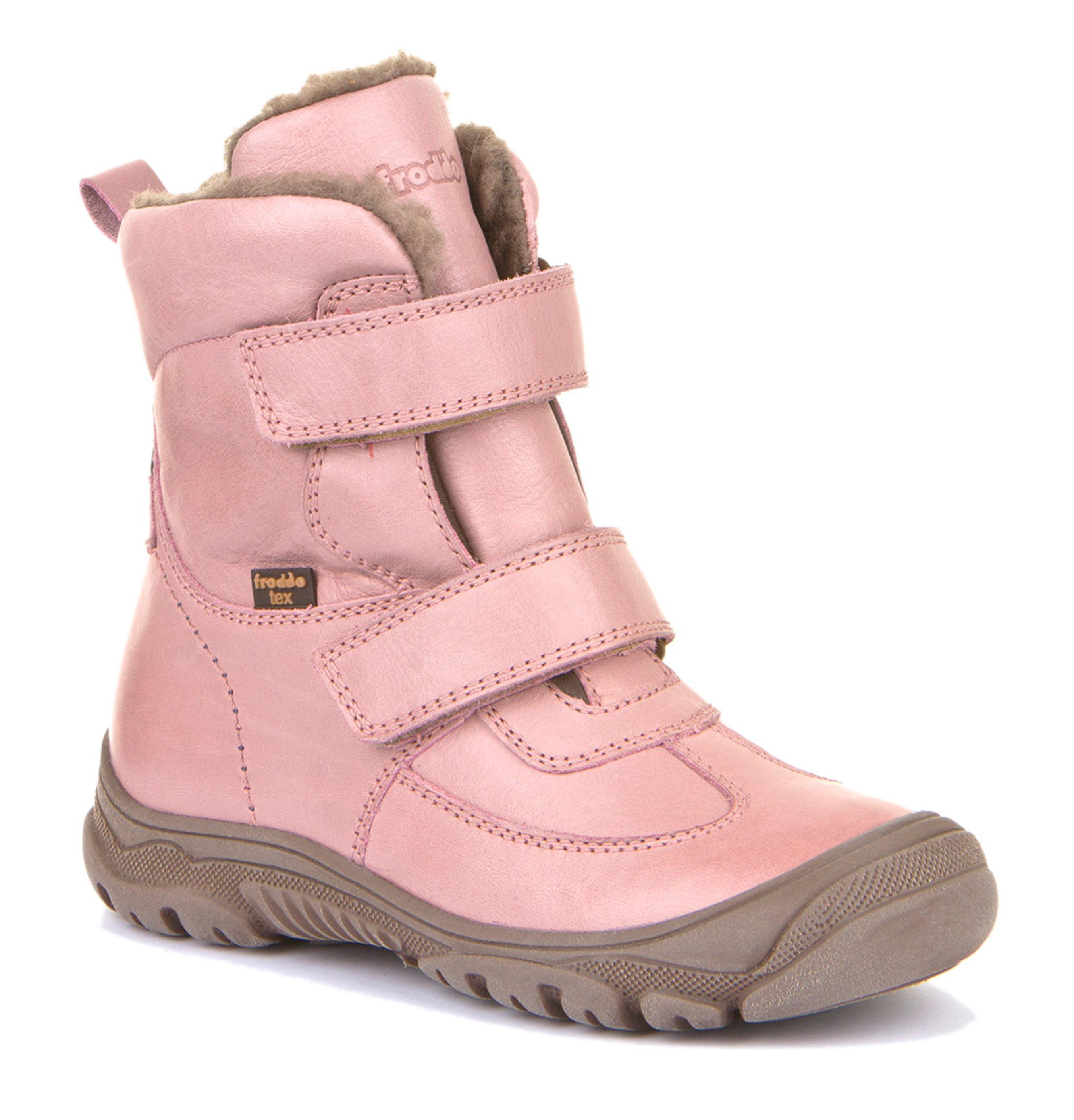 Froddo Tex Winterschuh Hoch Doppelklett Leder Pink