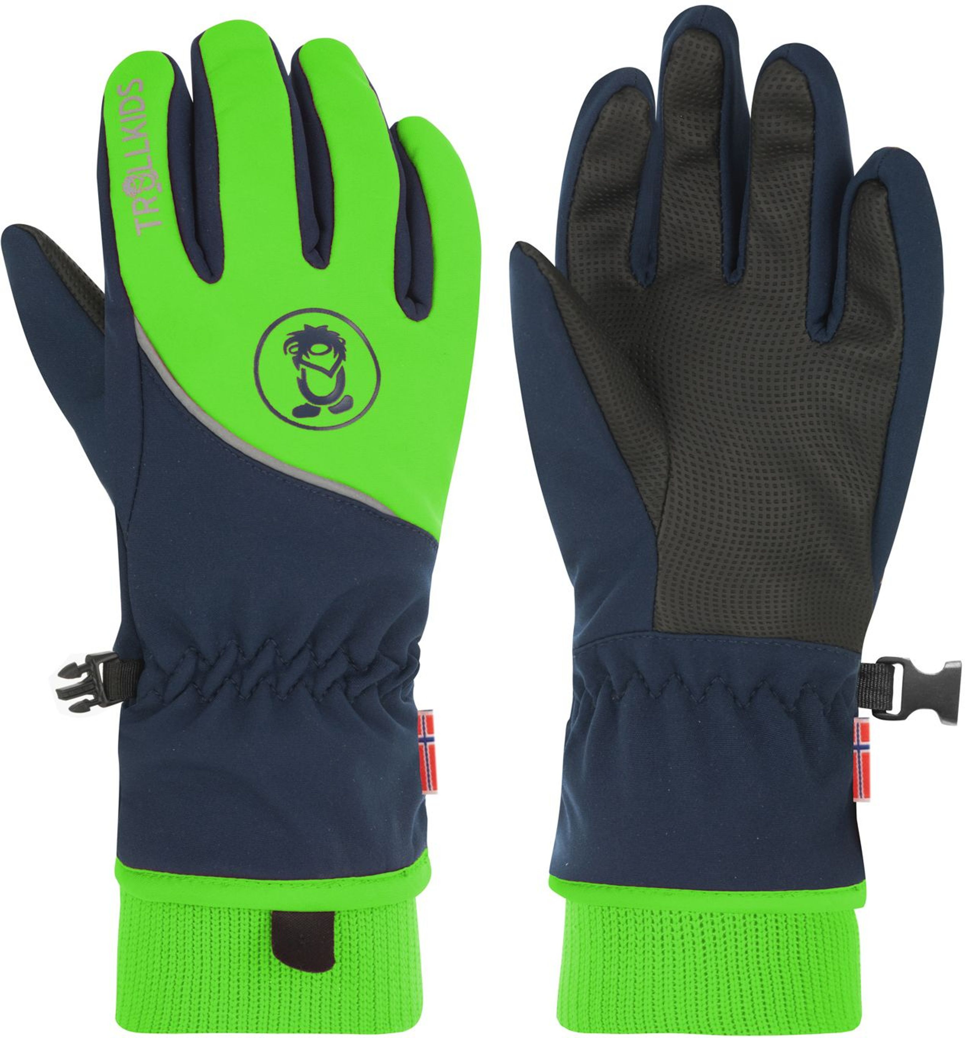Trollkids Trolltunga Glove Navy/Bright Green