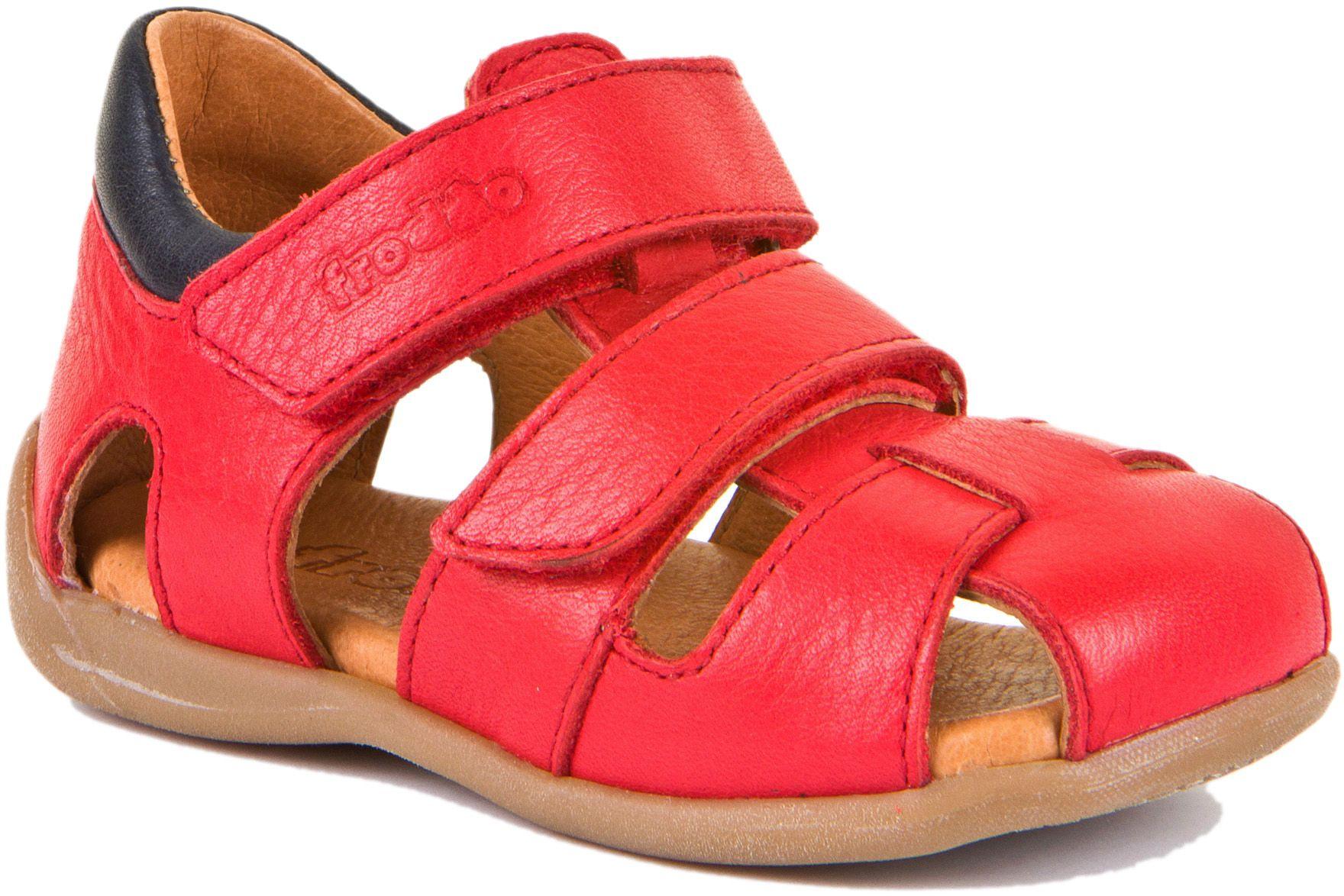 Froddo Lauflerner Sandale Doppelklett Rot