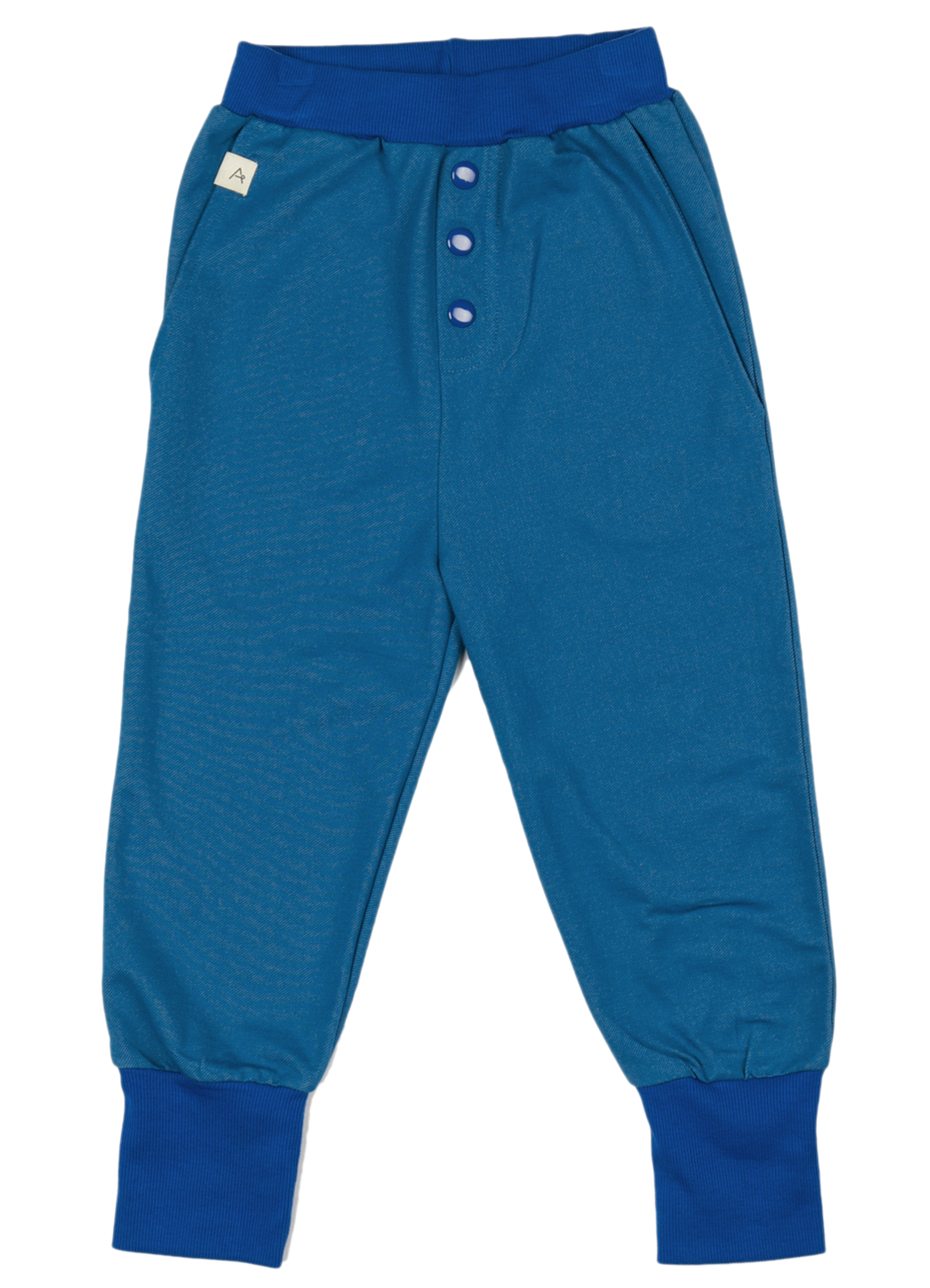 AlbaBaby Boy Button Pants Blue Sapphire