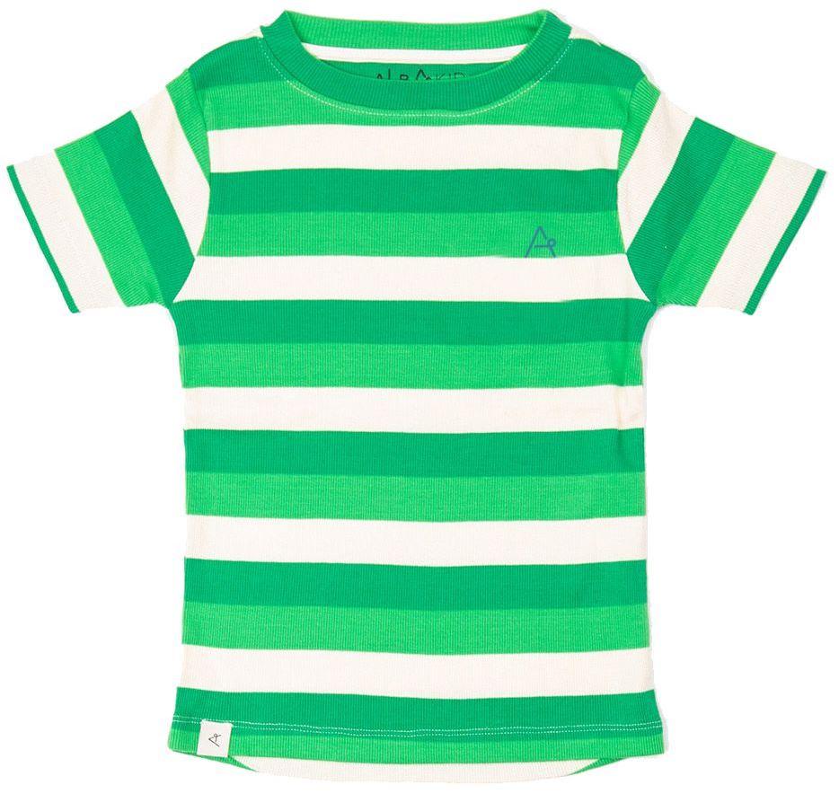 Alba of Denmark Boy T-Shirt The Bell green stripes