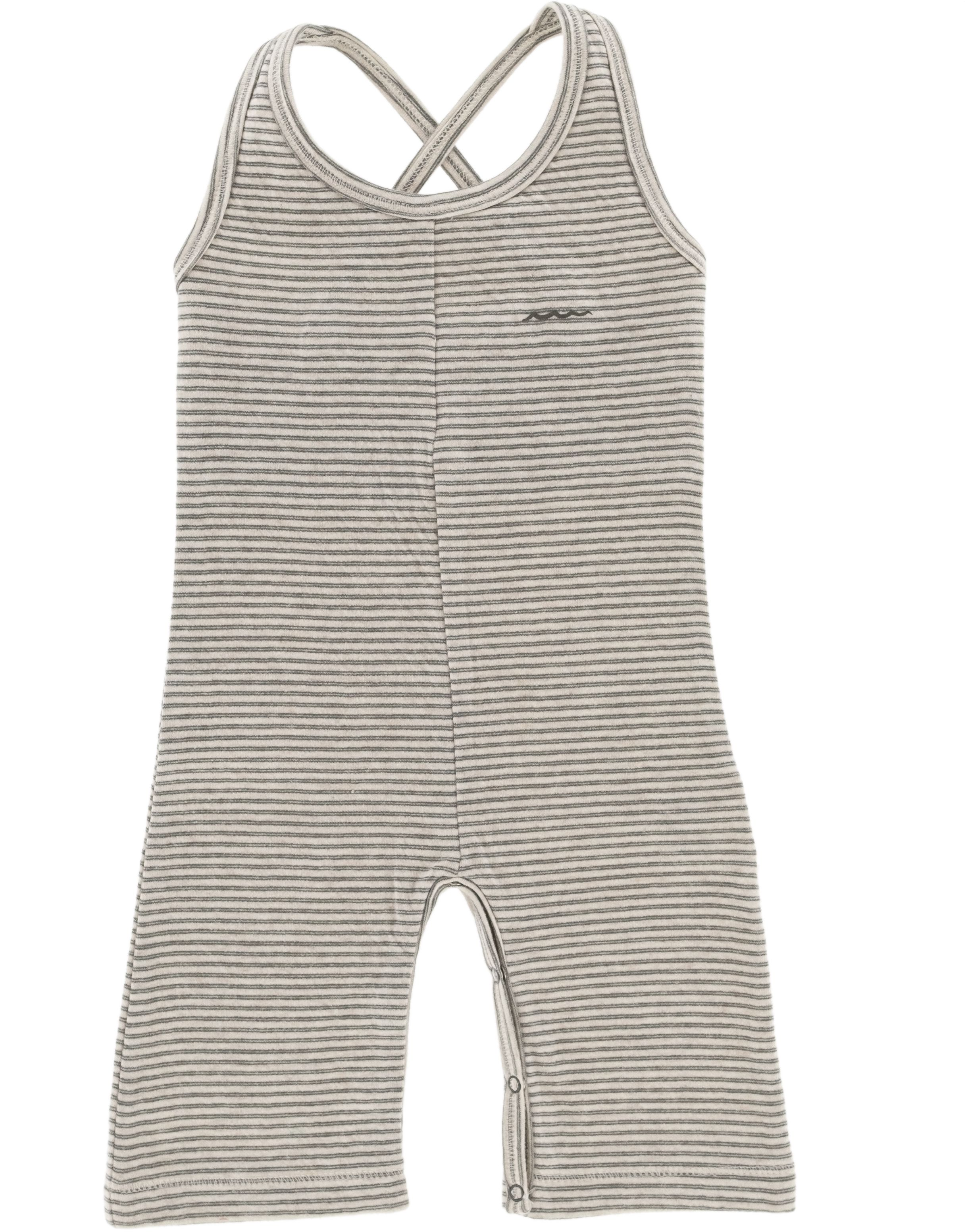 Riffle Amsterdam Playsuit grey/green stripe