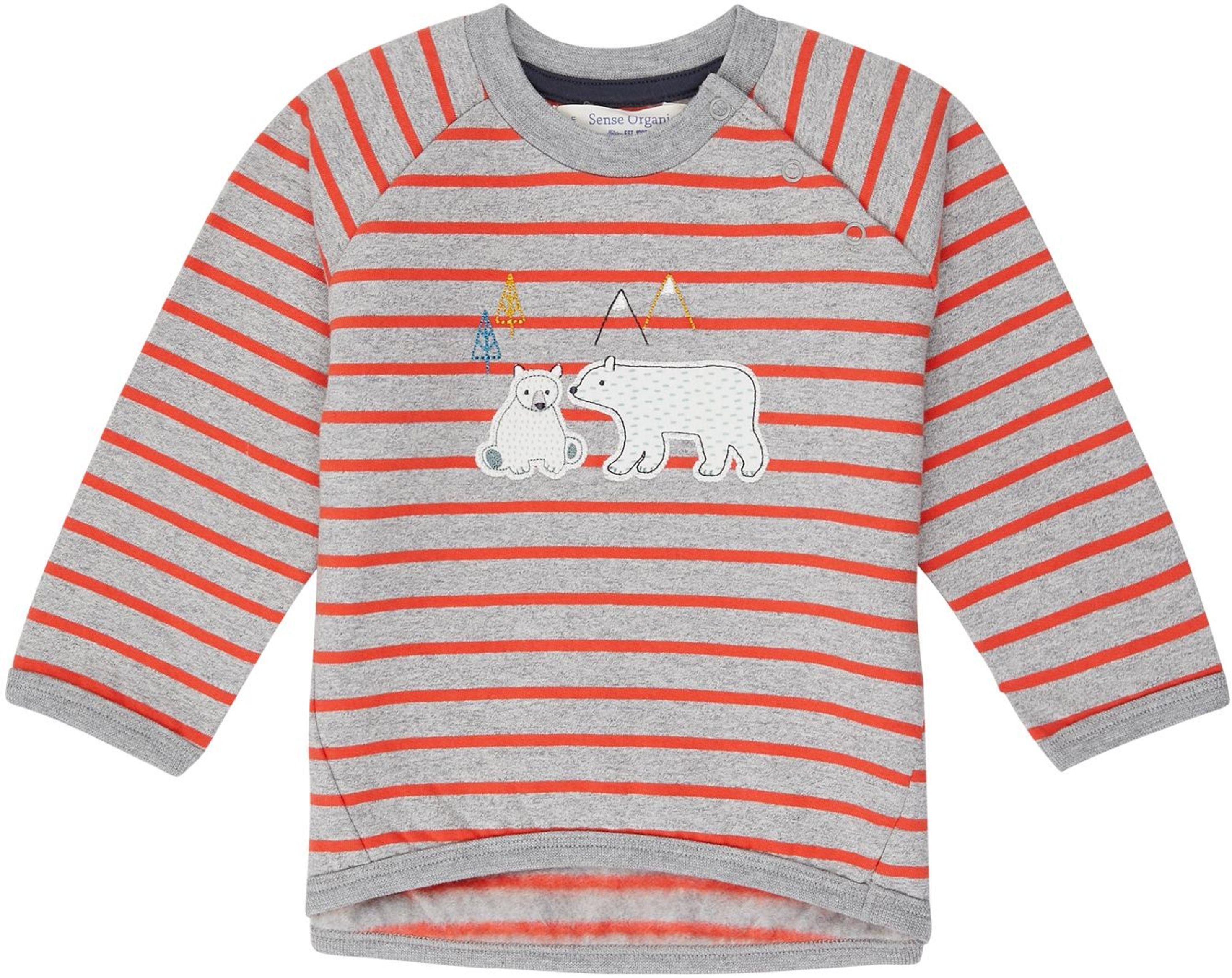 Sense Organic ETU Baby Pullover grey/red