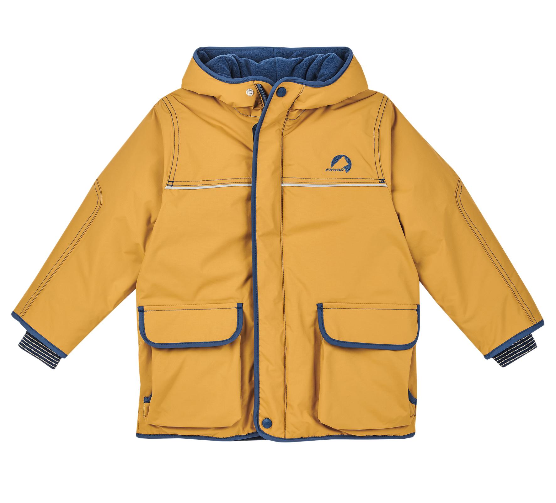 Finkid Winterjacke TALVI Golden Yellow/Navy
