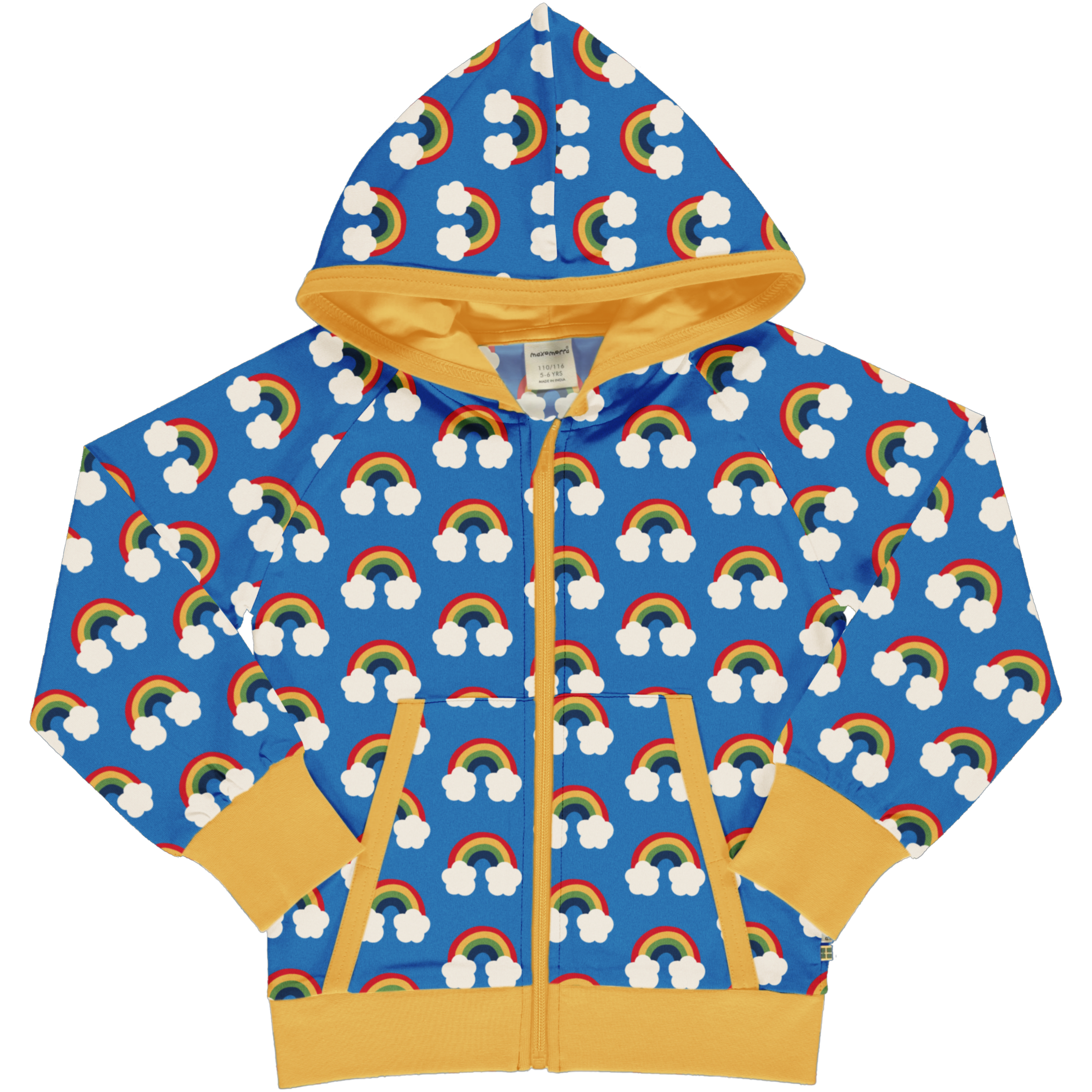 Maxomorra Sweatjacke Hood RAINBOW 110/116