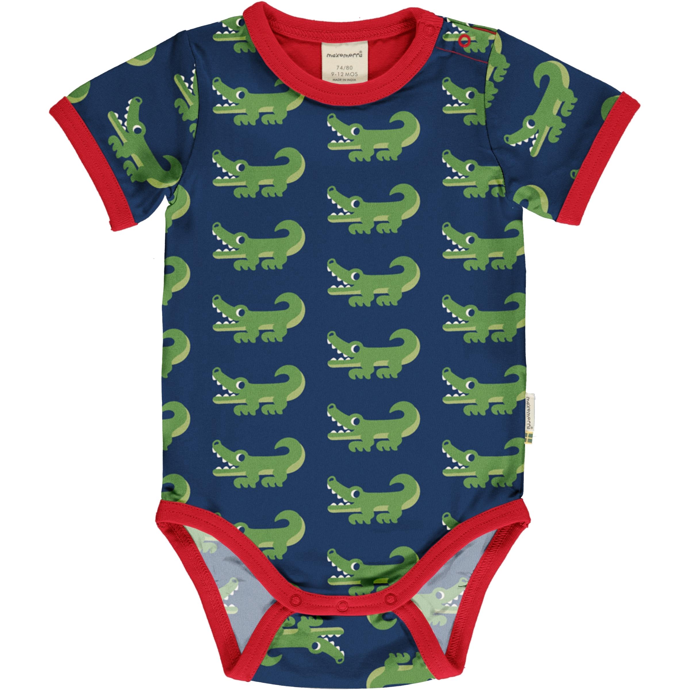 Maxomorra Baby Body kurzarm CROCODILE 50/56