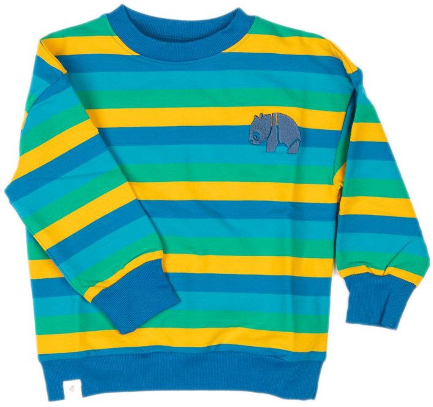 Alba of Denmark Boy Sweatshirt My Favorite emerald big stripes