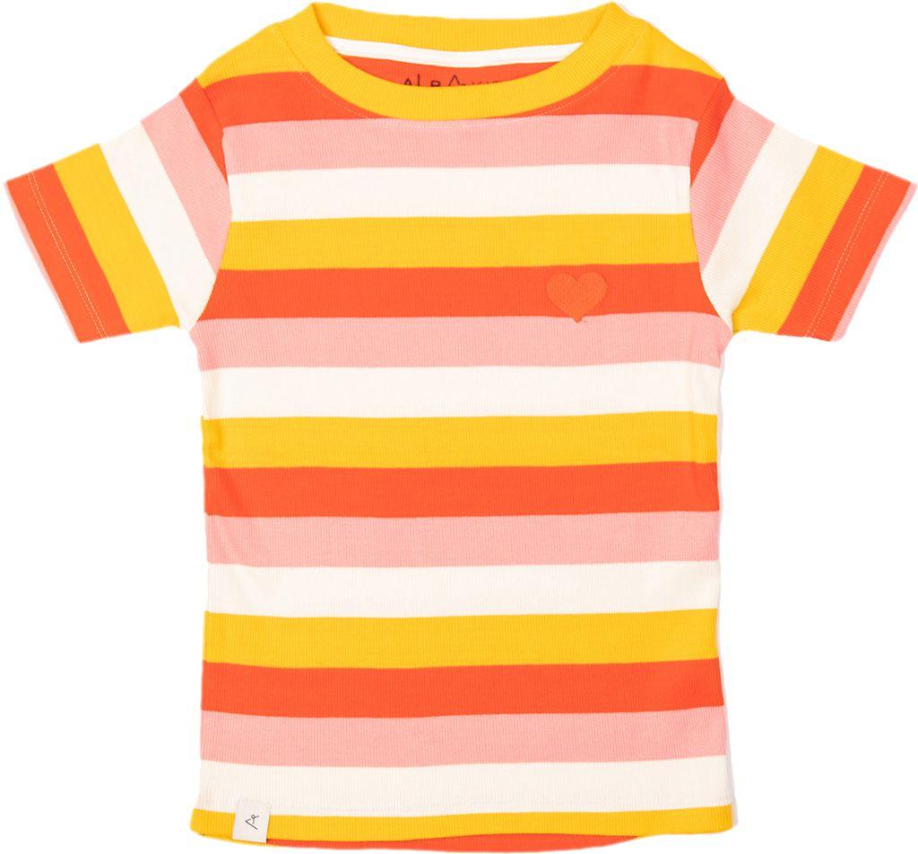 Alba of Denmark Girl T-Shirt The Bell Strawberry Stripes