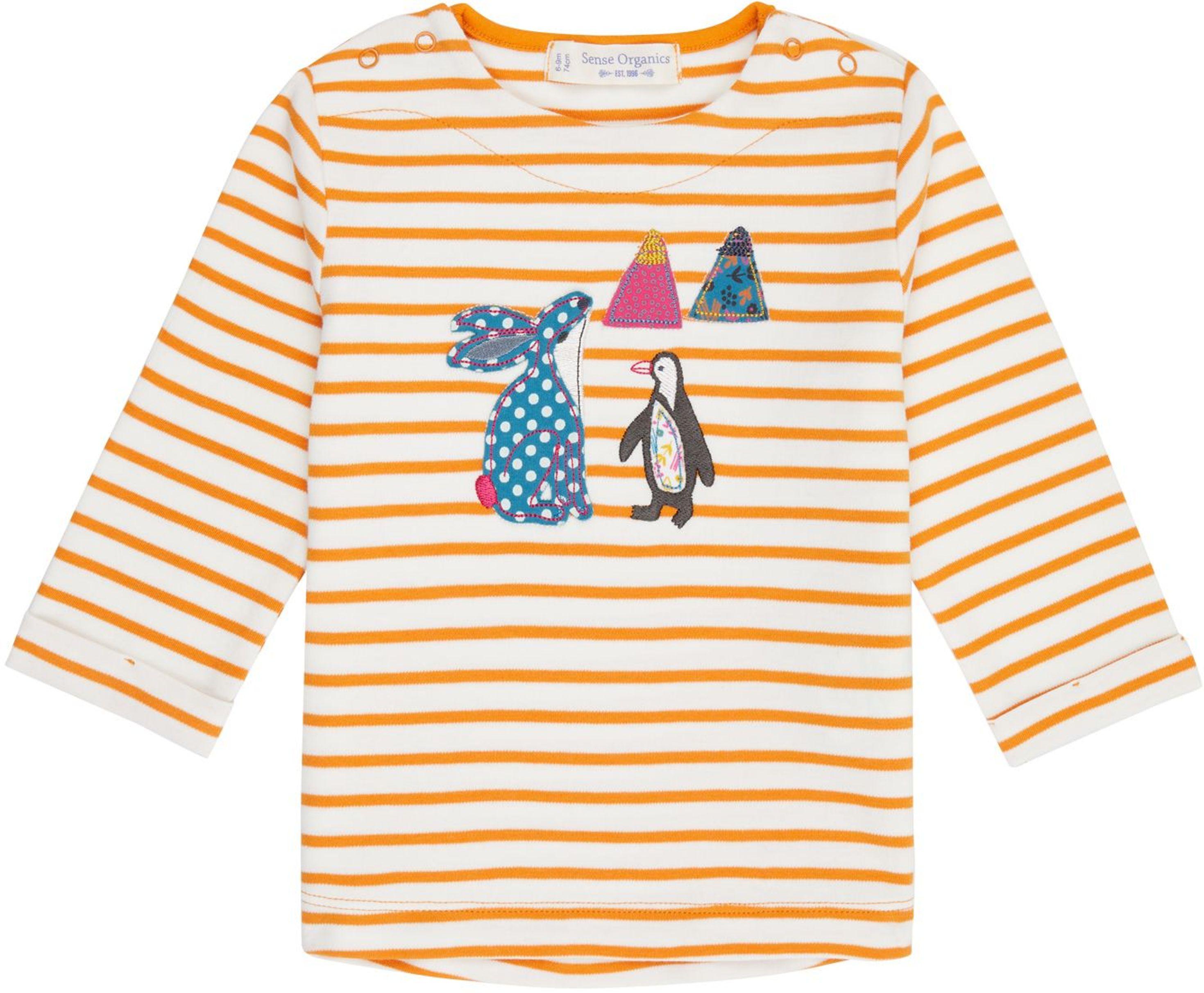 Sense Organic LEJA Baby Shirt L/S cheddar stripes