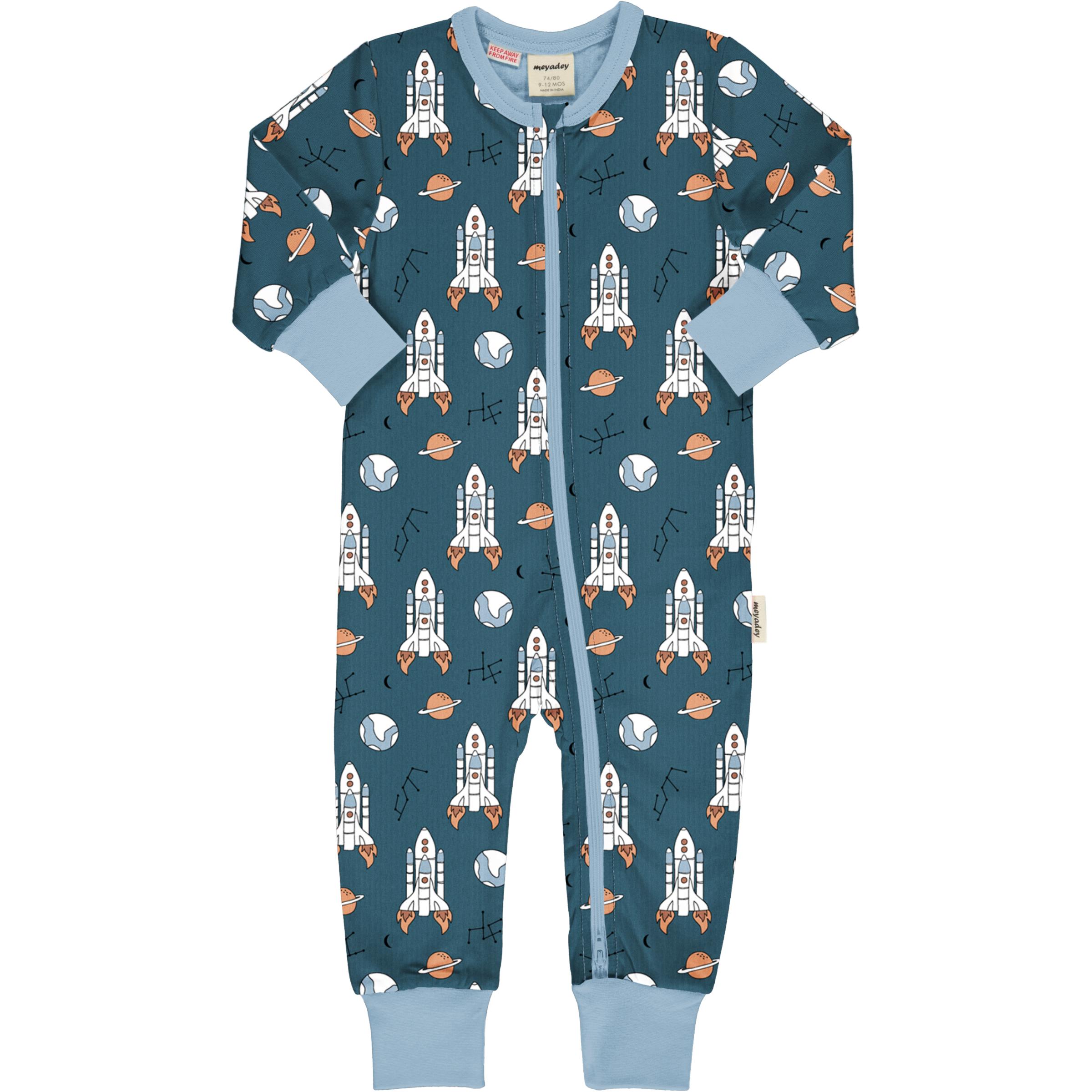 Maxomorra Baby Schlafanzug Einteiler Lang READY TO TAKE OFF