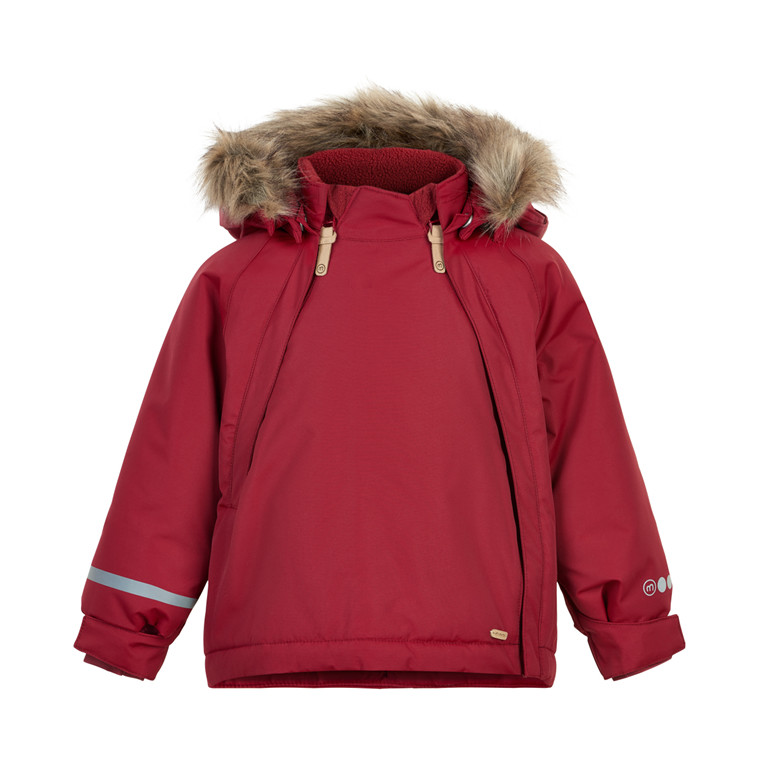 Minymo Baby Girl Winterjacke Tussor Solid Rio Red