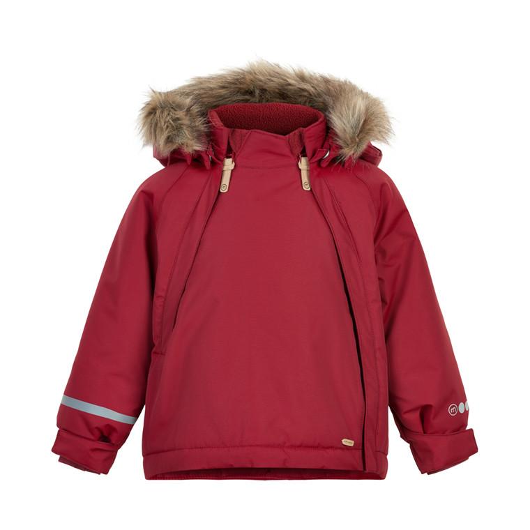 Minymo Baby Girl Winterjacke Tussor Solid Rio Red