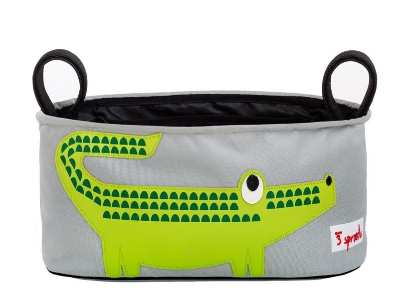 3Sprouts Kinderwagentasche Krokodil