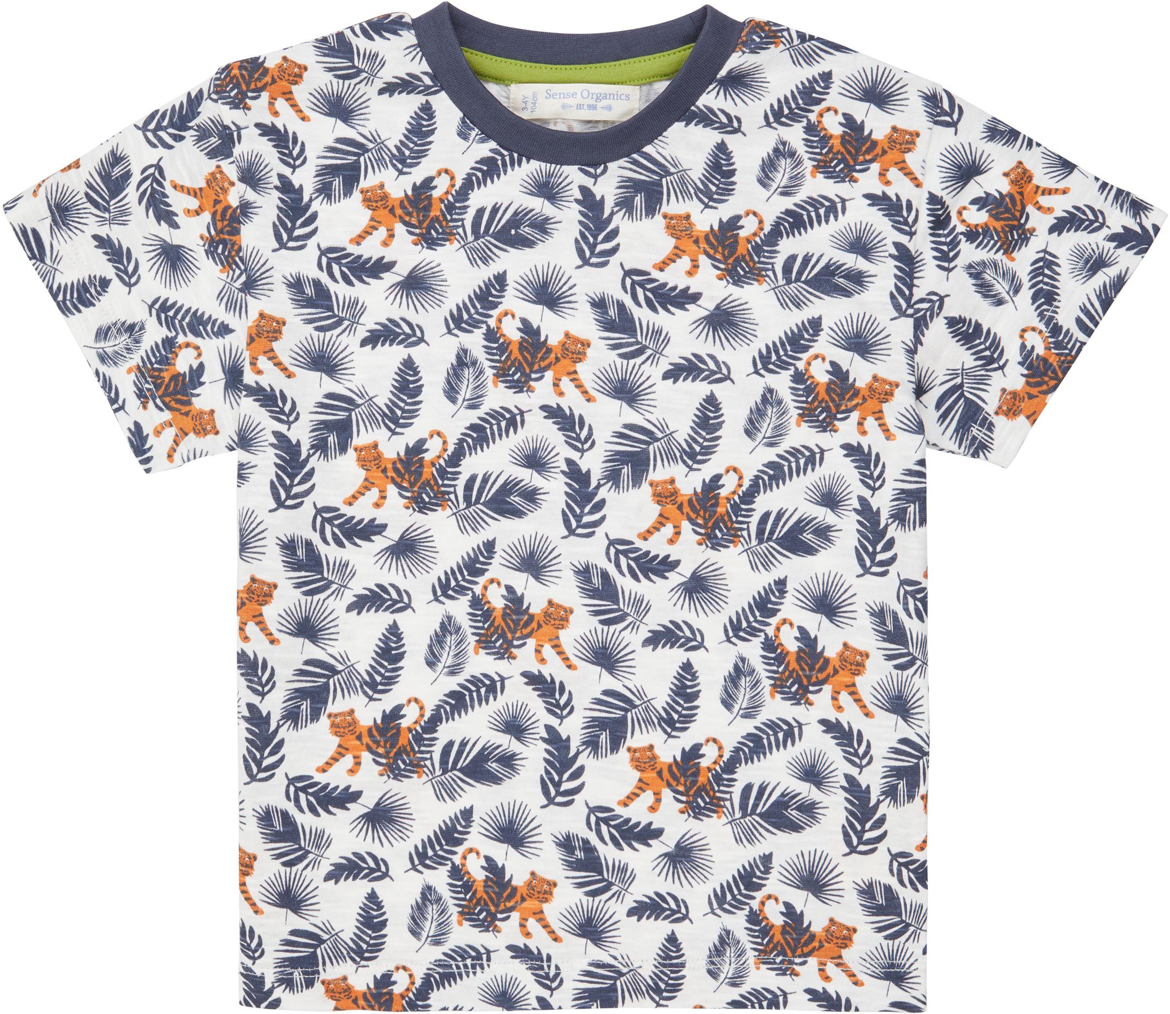 Sense Organic JANNIS Shirt Kurzarm Tiger