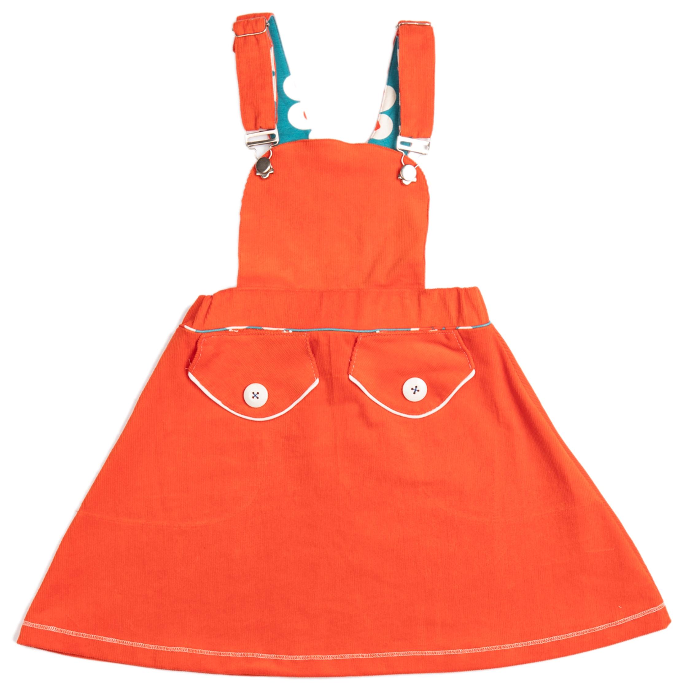 AlbaBaby Girl Latzrock Silje Spencer Spicy Orange