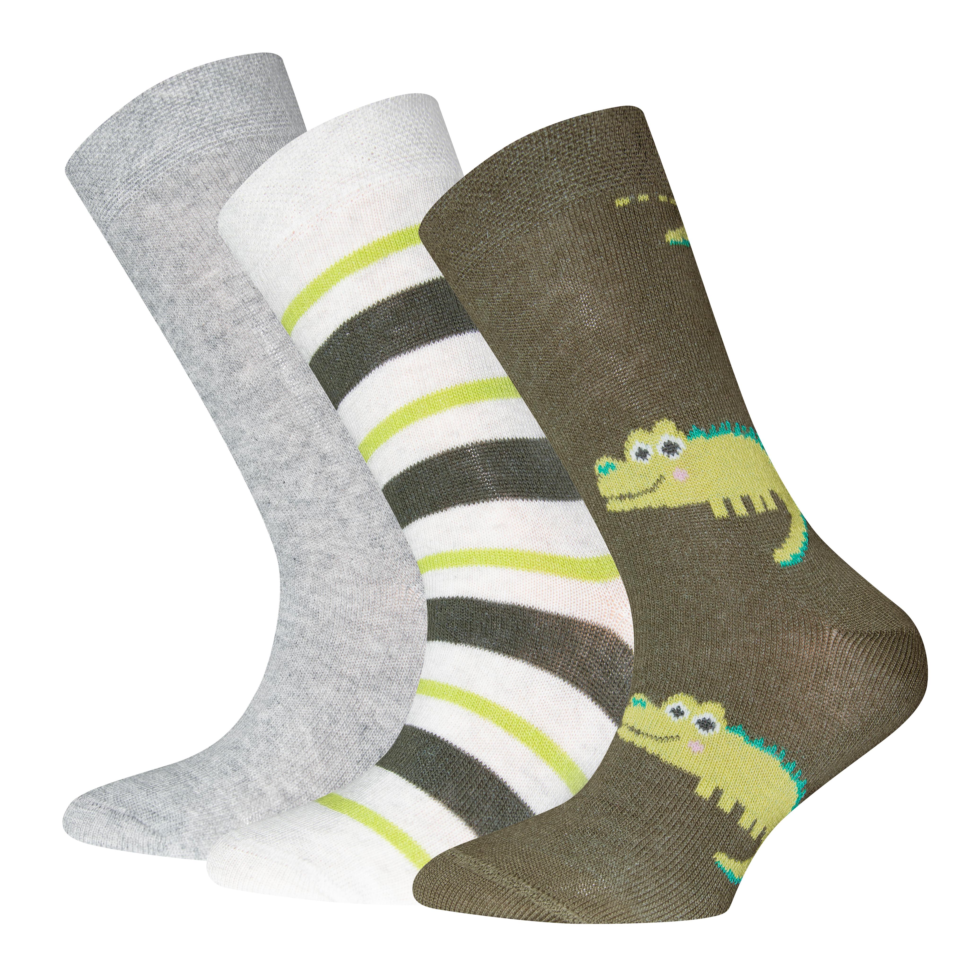 Ewers Socken 3er Pack Krokodil