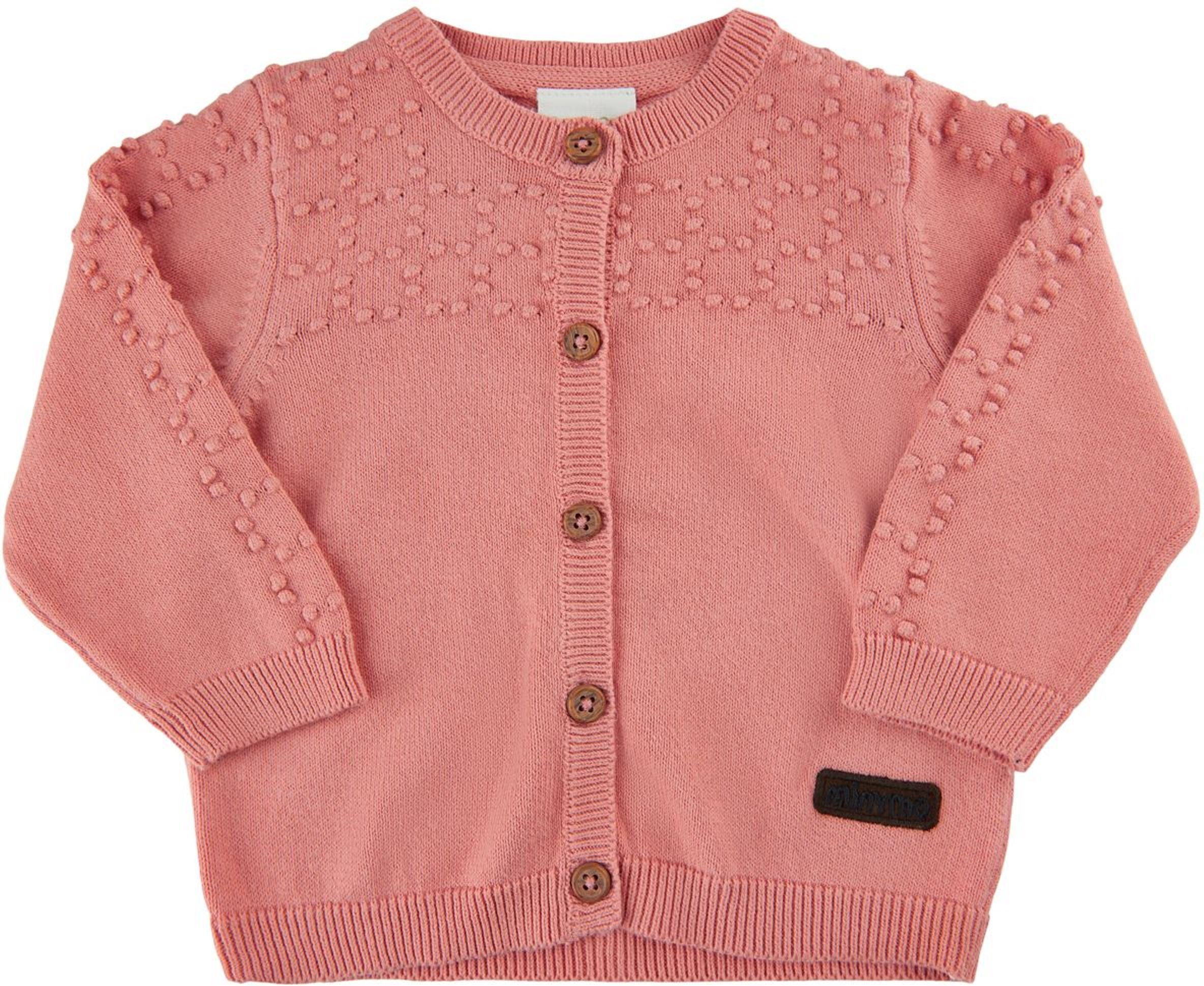Minymo Baby Cardigan lobster bisque
