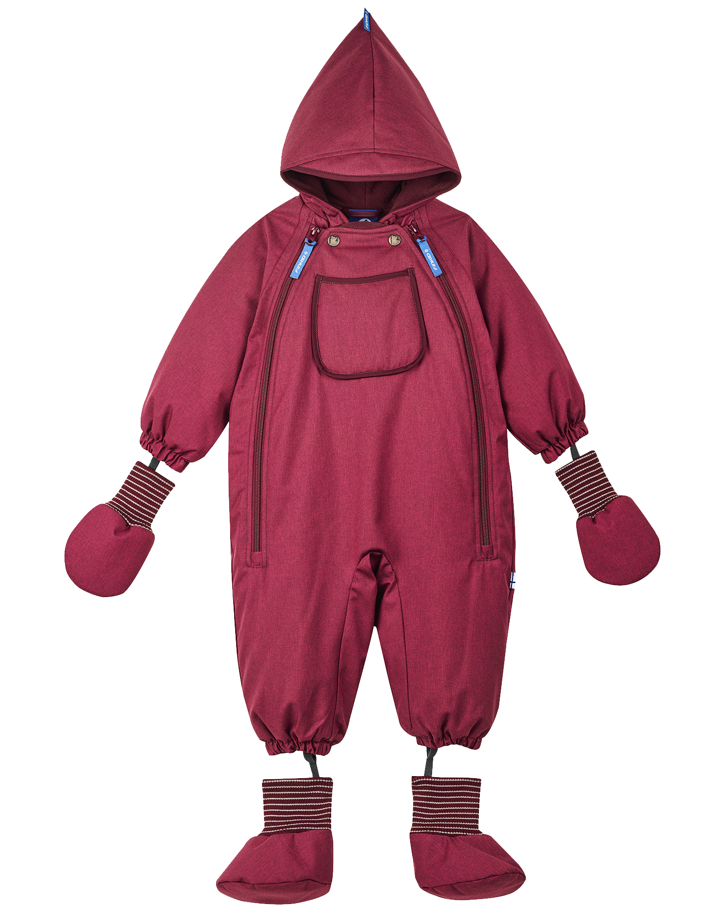 Finkid Baby Schneeoverall HALI ICE Persian Red/Cabernet
